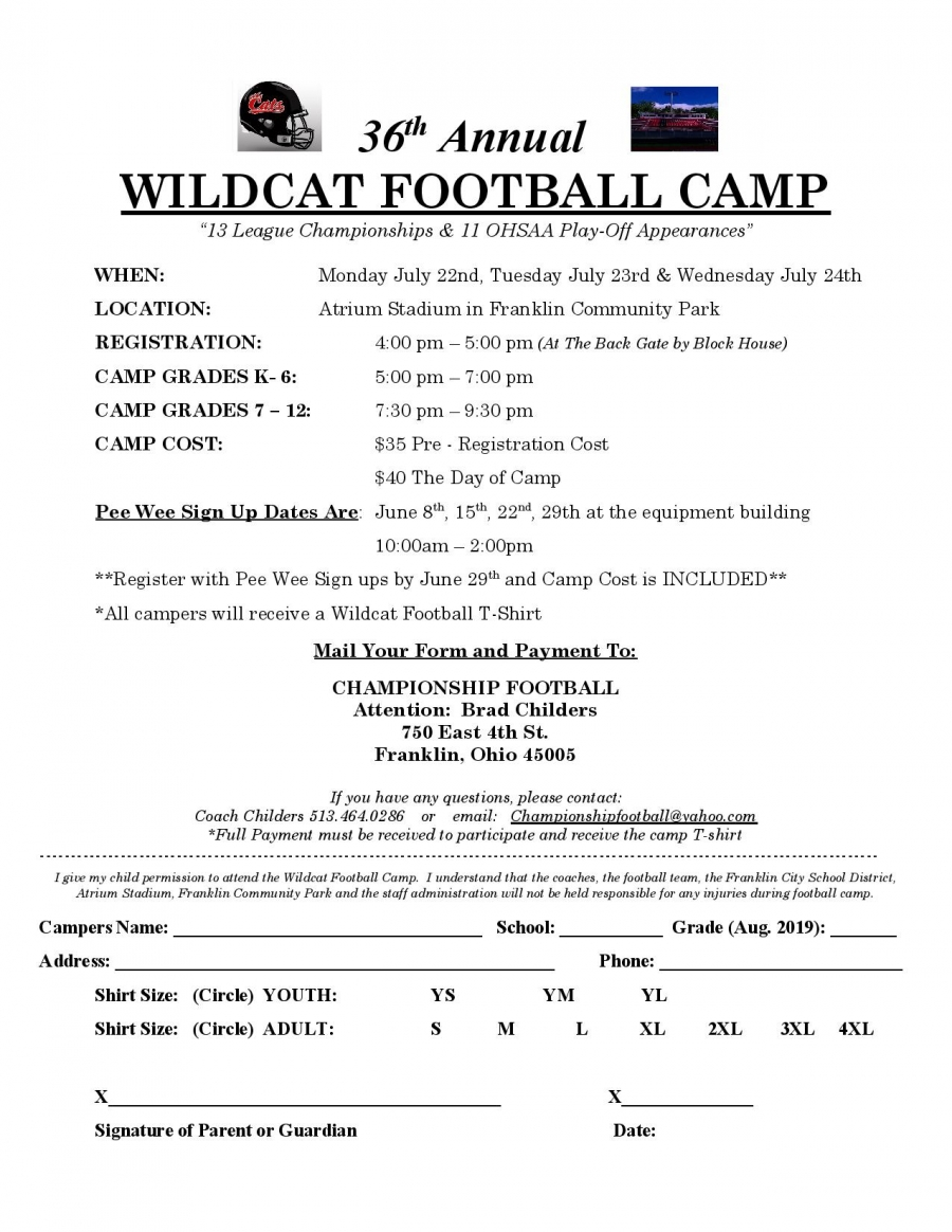 Wildcat Football Camp