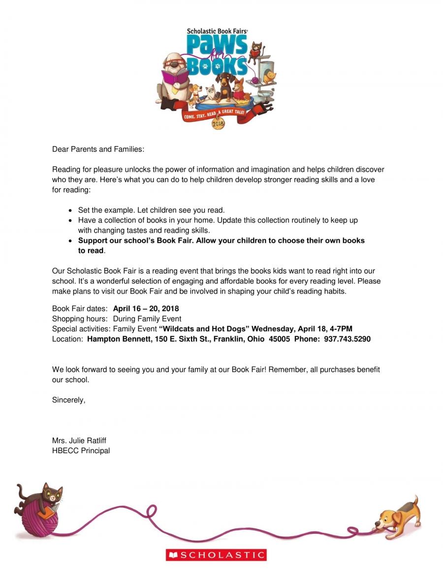 Kindergarten Book Fair Event