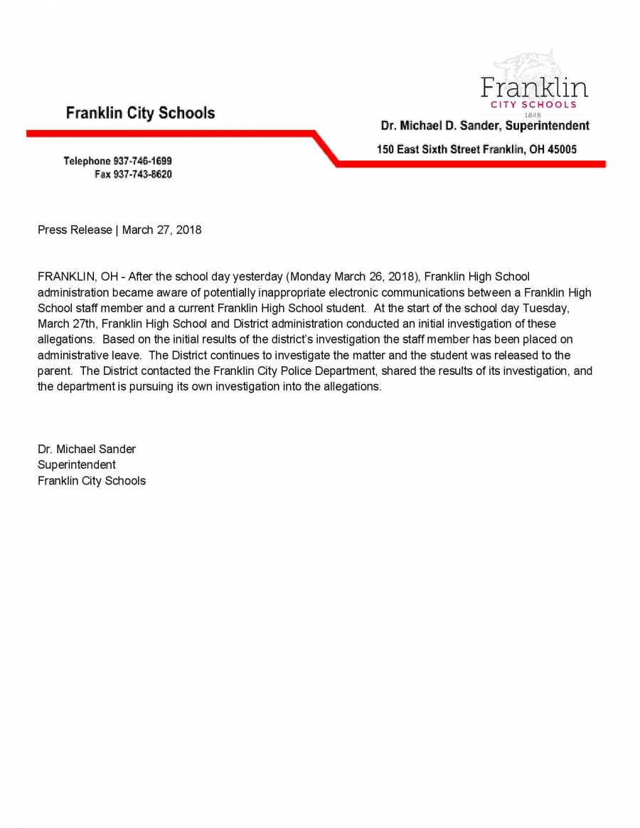 Press Release FHS