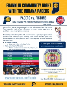 Franklin Community Night with the Pacers