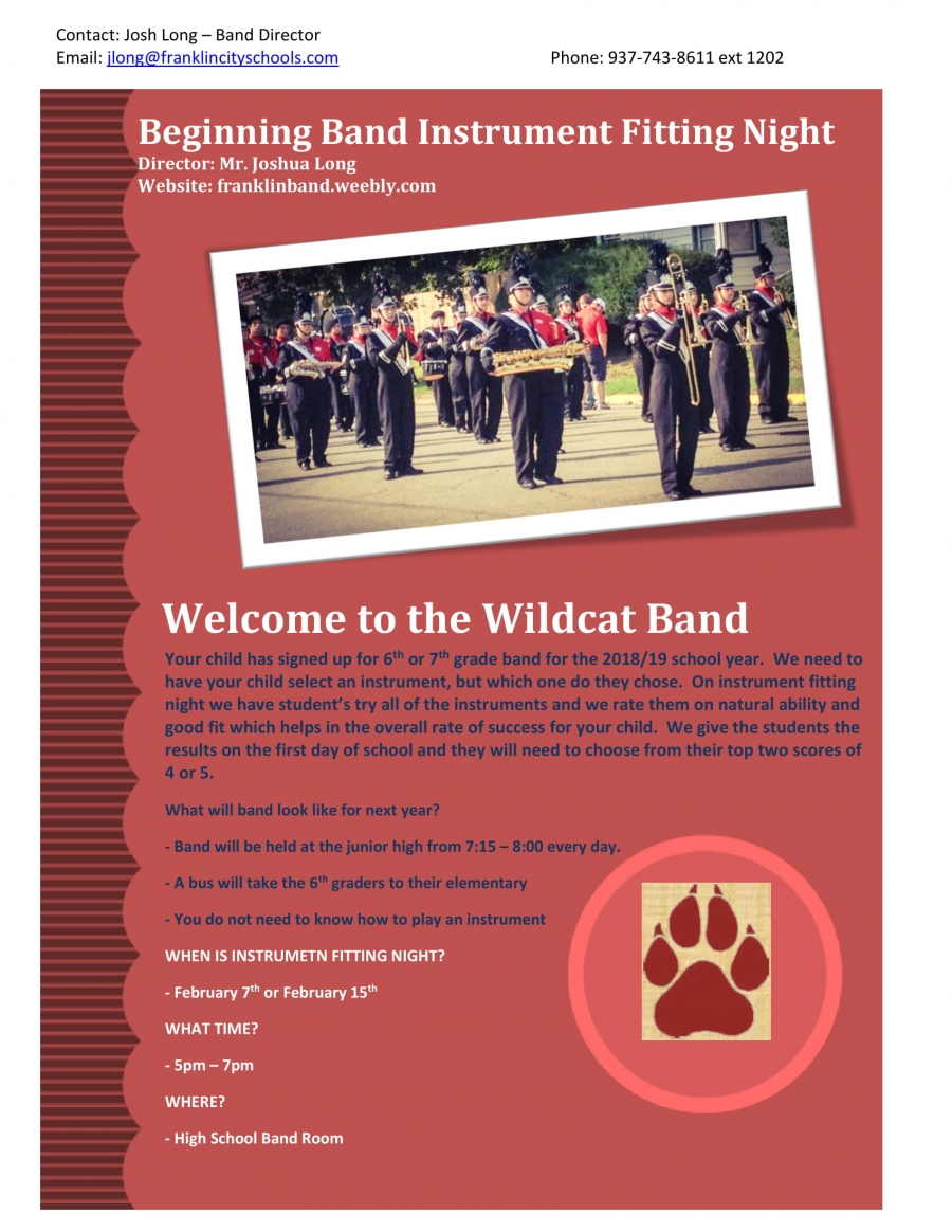 Elementary Band Flyer