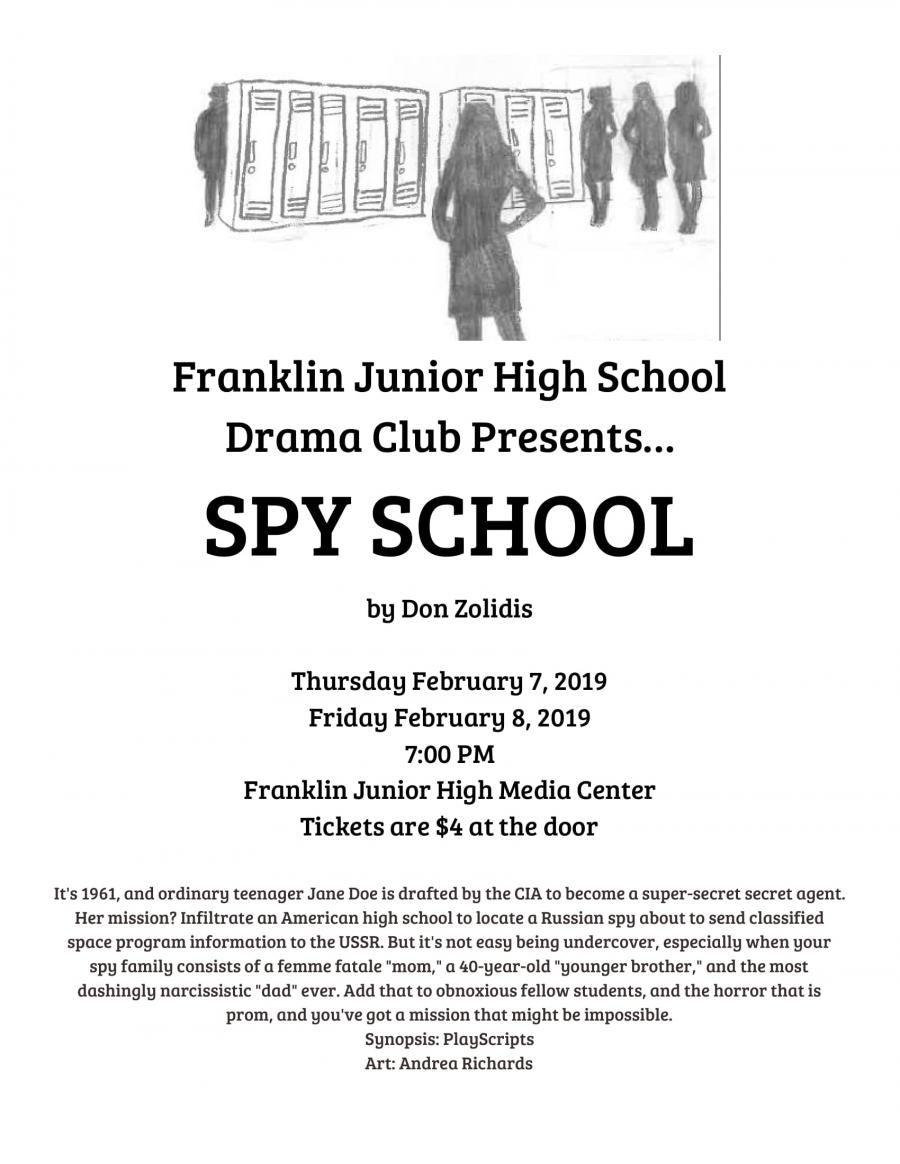 FJHS Drama Club to present Spy School