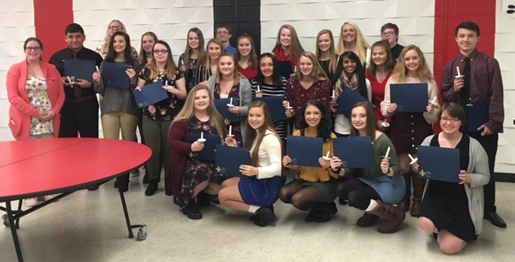 French Honor Society Students