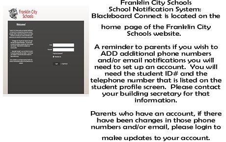 Franklin city schools home for Blackboard hampton