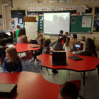 1st Graders use Google Hangout